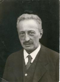 Ludvík Edelstein, nar. 7.4.1865, dědeček pamětnice