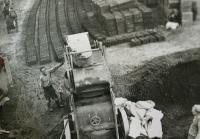 Making cinderblocks in Poříčí (around 1953)