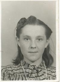 Vladimír's sweetheart from forced labor - Nadja Martsekuka from Dubrovka near Baranovka