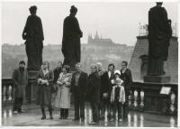 Vladimír on the roof of the National Theatre (1983) - third from the left