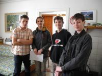 Studenti během práce na projektu Příběhy našich sousedů