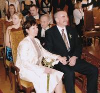 Komrsková Svatba nejstarší dcery Lucie