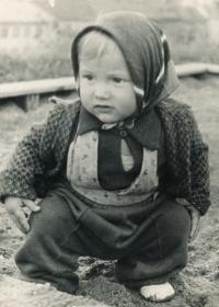 Komrsková Zdena jako dítě