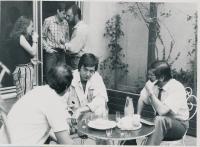 Boris Rösner a Albert Černý v atriu sídla zlínského OF