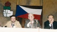 Sjezd Asociace sociálních demokratů.  Albert Černý, Karel Hrubý, Jiří Lövy