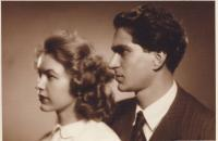 Brod with his wife in 1952