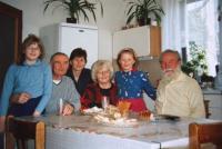 s rodinou, Chlumec, sestra Božena, švagr, neteř a děti