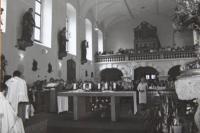 kostel v Sokolově 1985