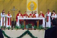 1992 milénium kostela svatého Jiří v Doubravce v Plzni
