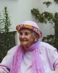 Pavla Kováčová na oslavě svých 100. narozenin