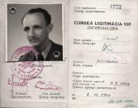Průkaz manžela Pavla Weisze/Kováče