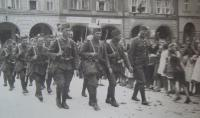 Mobilization in 1938, father of Ervin Šolc is the first men from the left side