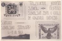 Svěcení sokolské standarty v Murnau