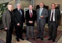 Meeting with Václav Havel, Potsdam 2009: FLTR: Roland Jahn, Gerd Poppe, Václav Havel, Markus Meckel, Arnold Vaatz.
