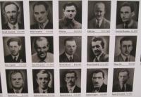 Photographs of men who were killed May 5, 1945 in Javoříčko Lüdemannovým commando