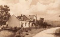 One of the houses burned in Javoříčko, who stood at the end of the village and the house next door to the family Zapletal, who was burned