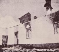 One of the houses burned in Javoříčko