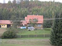 Typical house in Javoříčko. These houses were built after the war instead of houses burned 5 May 1945