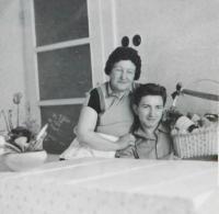 Milan Vlcek with his mother Emilie Vlčková