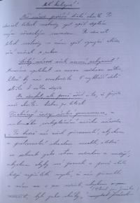 Maturitní proslov z roku 1939
