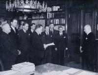 Adoption of the Central Board of Trade Board at Pres. Beneš