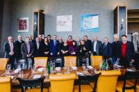 The regular participants of the ceremonial lunch in Mánes Restaurant, 17th October 2017