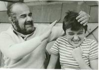 Pavel Bošek s dcerou Olgou