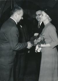 Svatba Evy a Pavla Boškých (1964): Ivan Vyskočil, Pavel Bošek, Eva Bošková