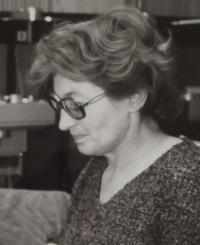 Jitka Borkovcová - dobová fotografie výřez