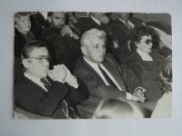 V publiku s Jiřím Horčičkou, Eduardem Cupákem a Josefem Melčem