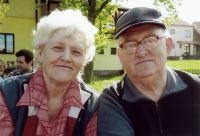 Lenka Bechná s manželem, rok 2013