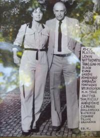 Karel Floss s manželkou