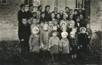 Nedělní škola v Boratíně, 1944