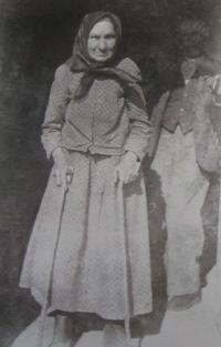 Grandma Marie Ludvíková (1939), who came to Volyn with her parents in 1865 at the age of six years