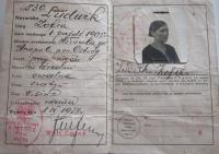Polish identity card mother Sophie Ludvíková
