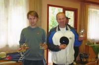 x15.Mirek Jirounek  (vpravo) se svým kolegou zvítězili v turnaji ve čtyřhře  v tenisu – areál LTC Mladá Boleslav v lesoparku Na Štěpánce - 2012