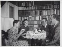 Dědeček František Nušl s rodinou