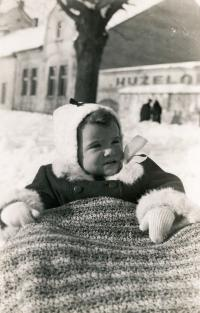Jana Andrlíková as a one-year old baby