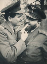 Čestmír Klos při vojenské službě