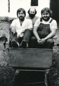 Z. Rytíř, Č. Klos a M.Tučný - začátek 80. let