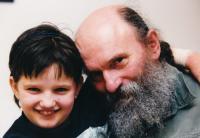Čestmír Klos a jeho dcera Kristina - rok 2002