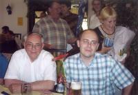 Václav Kelnar (vlevo) na rodinné oslavě