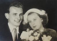 svatba s Jiřinou 1948