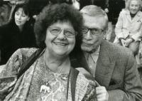 Antonín Kachlík s herečkou Helenou Růžičkovou