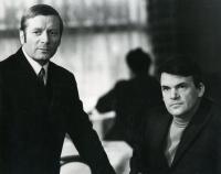 Antonín Kachlík s Milanem Kunderou