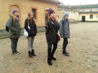 Students from the project Stories of our neighbours in Terezín