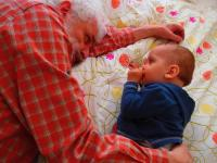 With my grandson Samuel (c. 2014).