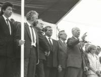On the grandstand (Bratislava 1990).