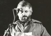 First November demonstration in Bratislava (1989).