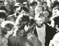 With Slovak nationalists in early 1990.